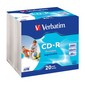 Компакт-диск 43424 Verbatim CD-R,20pk диск Wide Inkjet Ptintable ID Branded SC AZO 700MB 52X